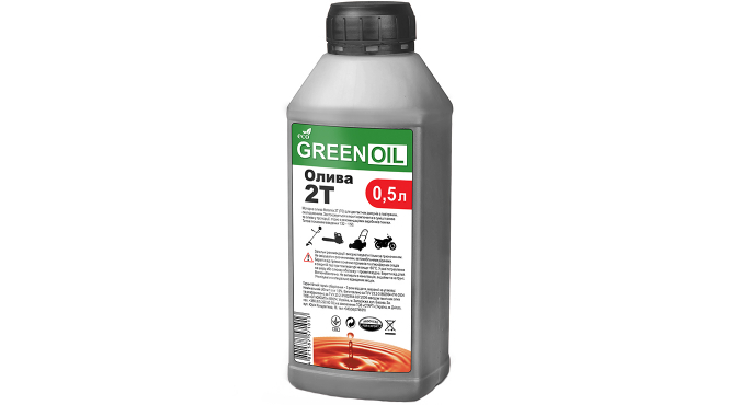 """Масло п/синт. моторное 2Т_""""GREEN OIL""""_канистра 0,5л ПЕ (мат)"""