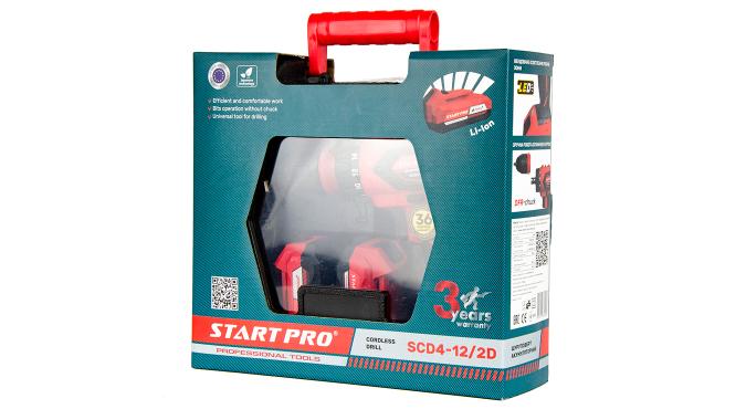 Шуруповерт аккумуляторный Start Pro SCD4-12/2D