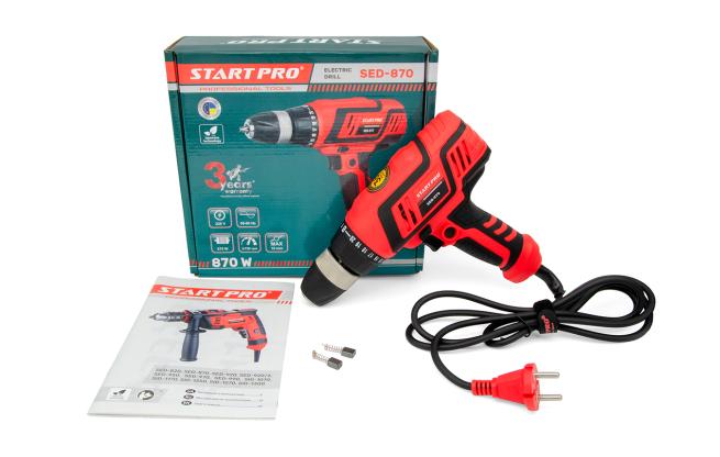 Дрель электрическая Start Pro SED-870 - Комплектация
