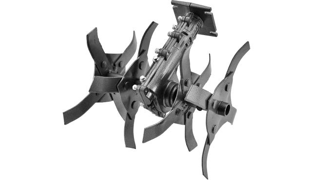 Насадка-культиватор для триммера D28 мм 9 шлицов со съемными фрезами SC001 Start Pro 4239