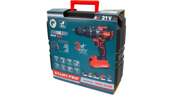 Шуруповерт аккумуляторный Start Pro SCD2-21/2В BRUSHLESS