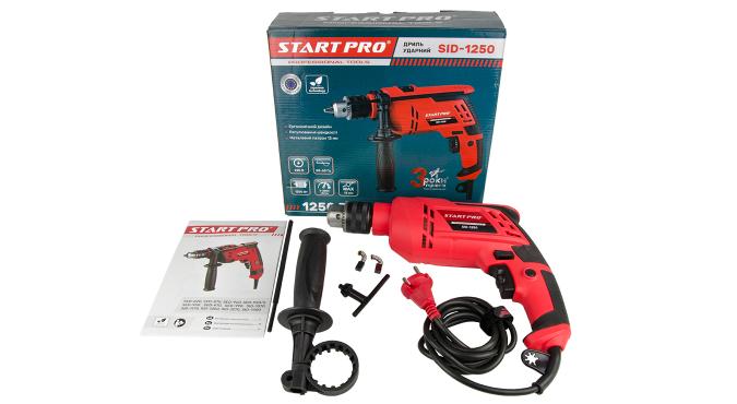 Дрель ударная Start Pro SID-1250