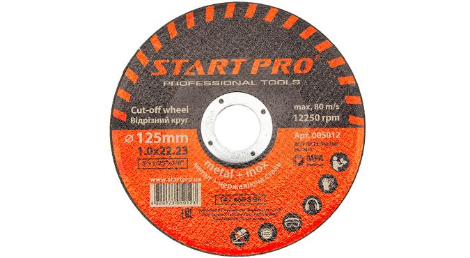 Круг отрезной START PRO_125x1.0x22.23, уп.25 шт.
