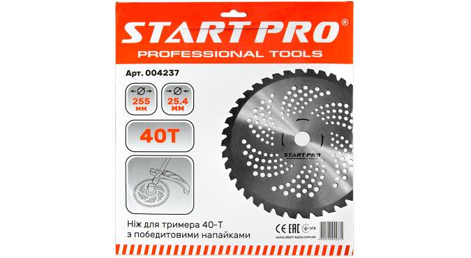 Нож для триммера 40-Т с победитовыми напайками D255 мм Start Pro 4237