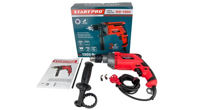 Дрель ударная Start Pro SID-1300